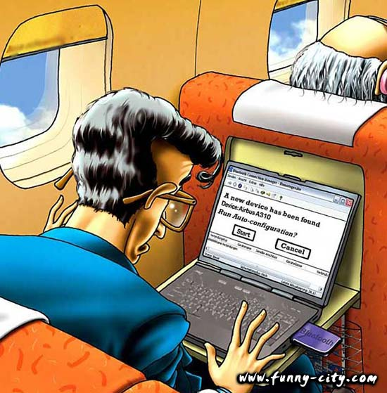 <p>This is why you should shut down all electronic devices before flight, I guess!</p>
