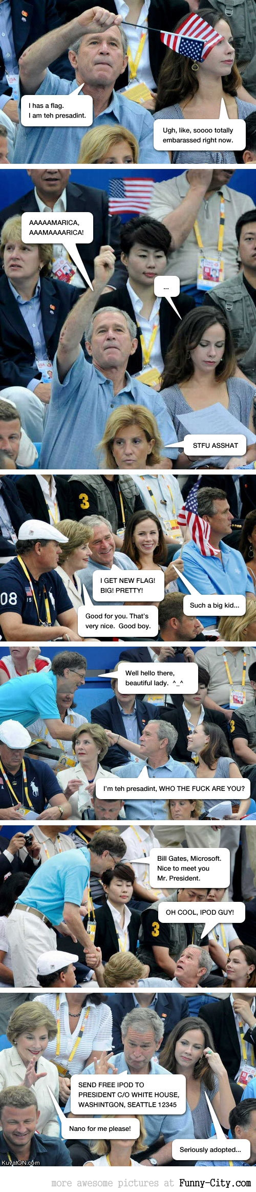Bush at the games