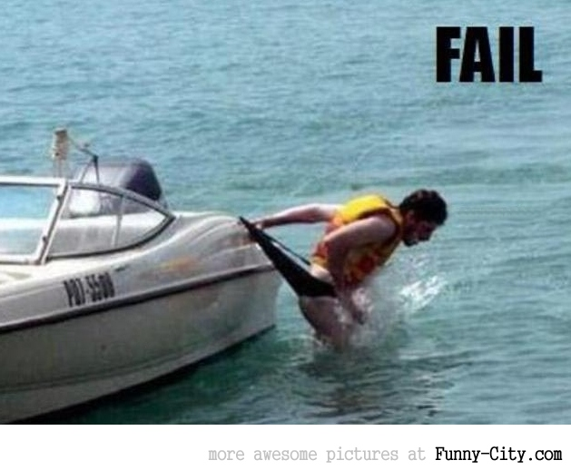 Diving from boat - FAIL [649]