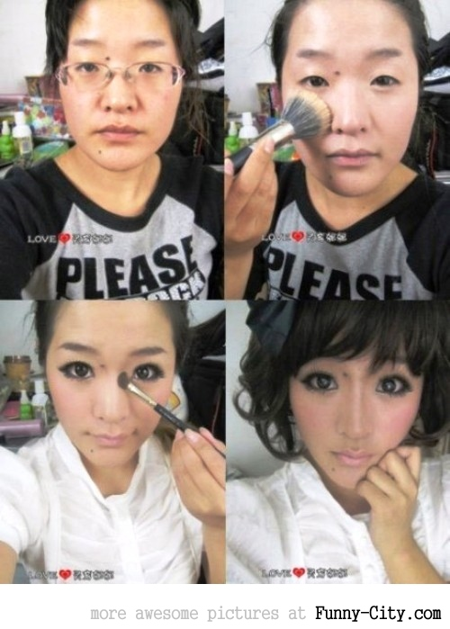 Make-up does miracles!