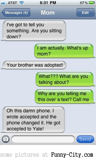 Your brother was adopted...