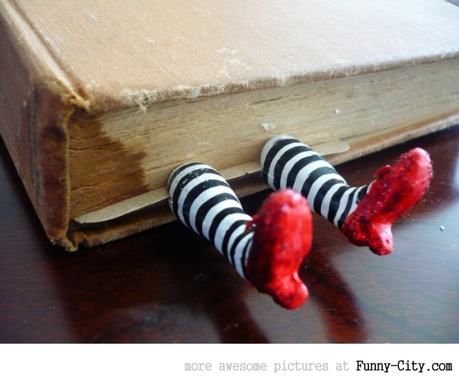 Great Dorothy's shoes bookmark!!