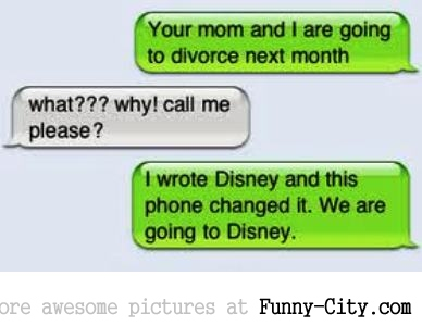 Divorce announcement via sms... [1105]