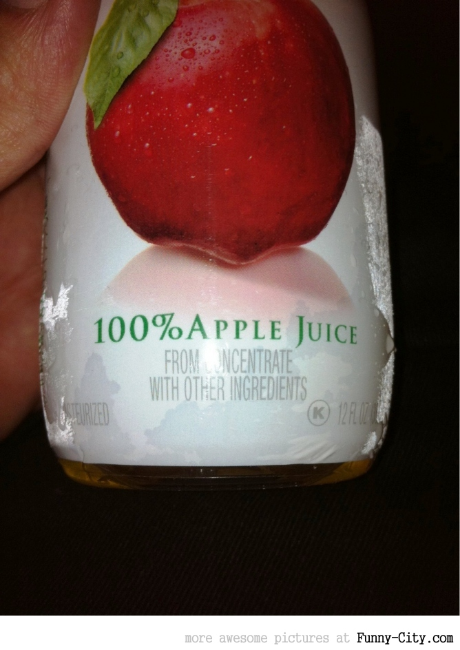 100% apple juice.... [1106]