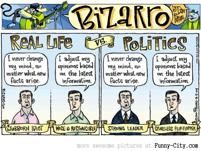 Real Life vs. Politics [1328]