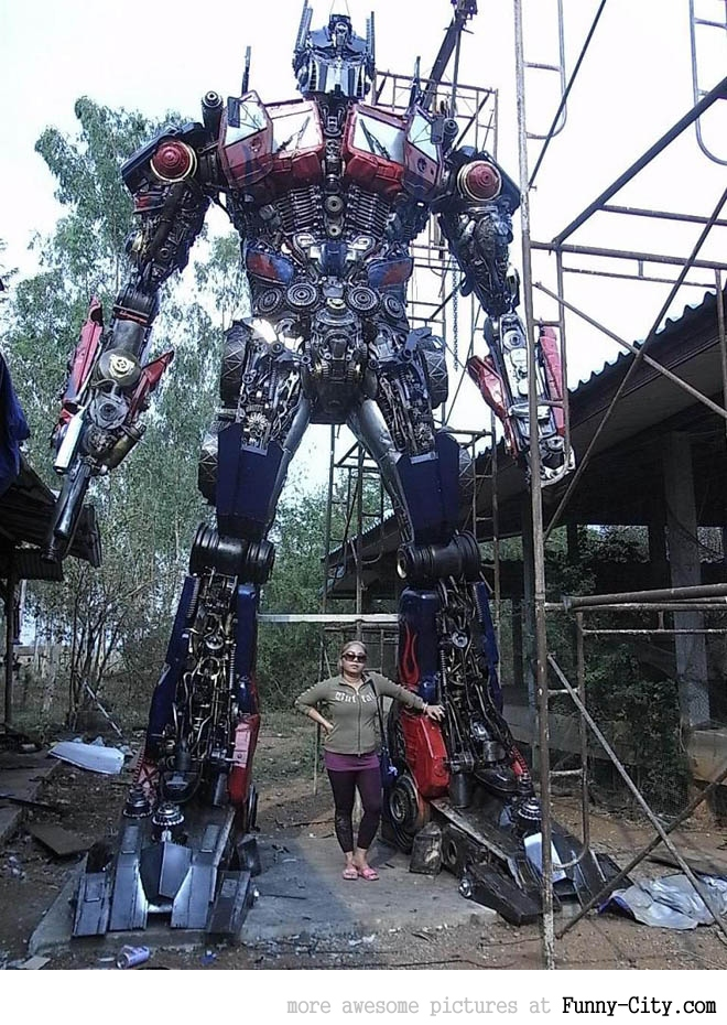 Transformers made from recycled car parts [3850]