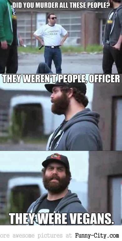 They weren't people, officer...