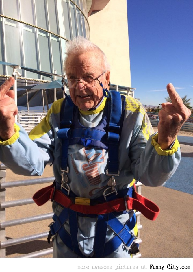 A 92 Year Old Man who SkyJumped off the Stratosphere in Las Vegas