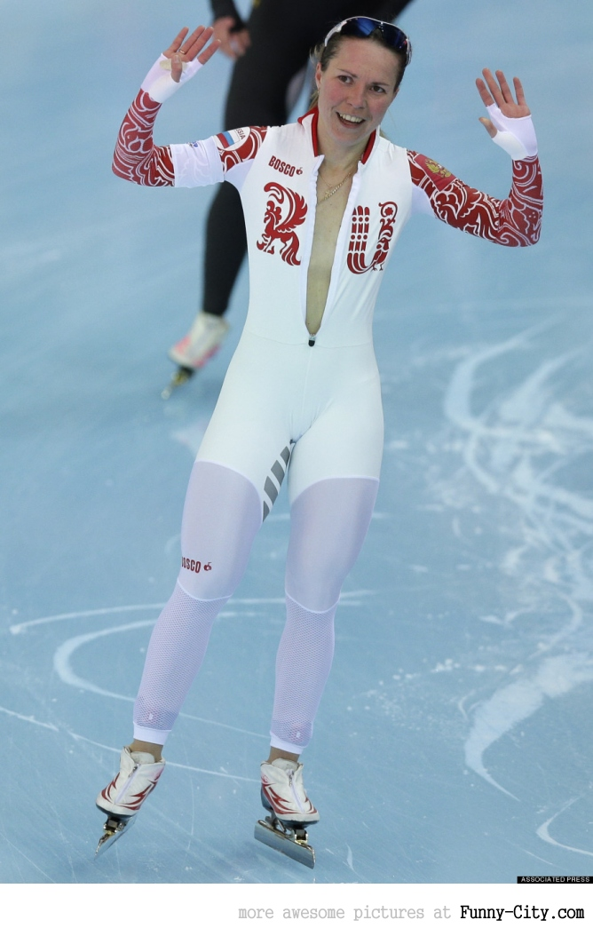 Olga Graf almost had a glorious Olympics wardrobe malfunction