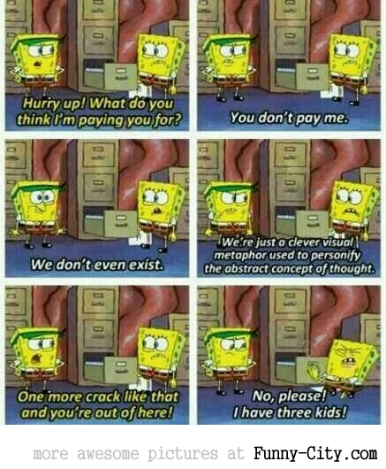 SpongeBob getting existential.