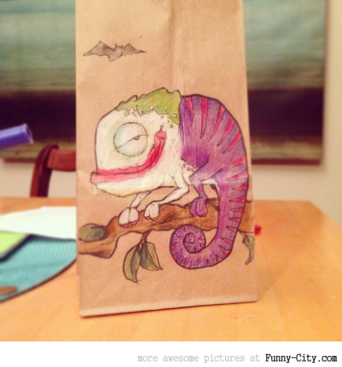 Artist, draws awesome lunch bags for son [17 pics] [7062]
