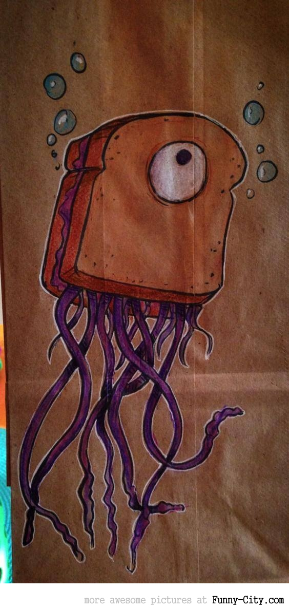 Artist, draws awesome lunch bags for son [17 pics] [7063]