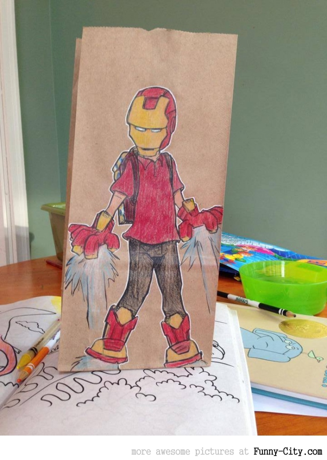 Artist, draws awesome lunch bags for son [17 pics] [7065]