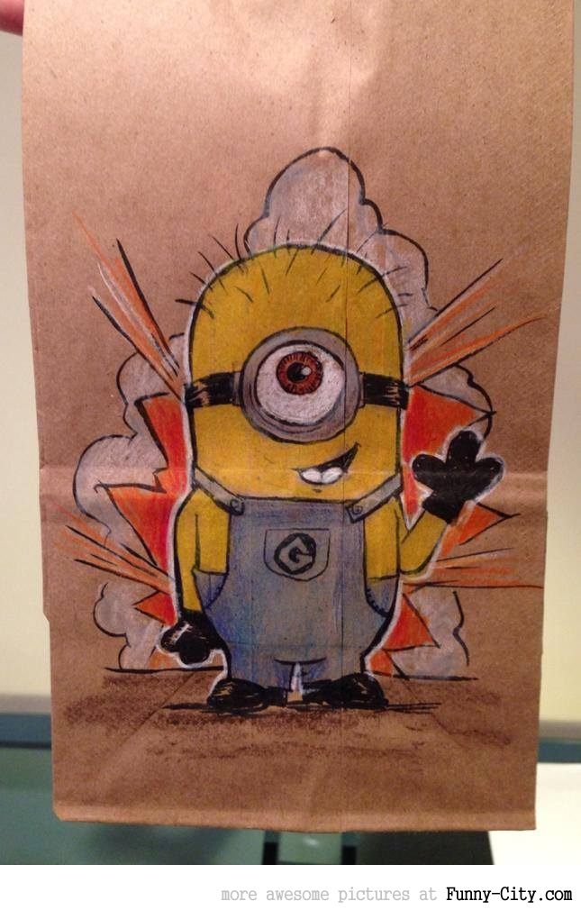 Artist, draws awesome lunch bags for son [17 pics] [7074]
