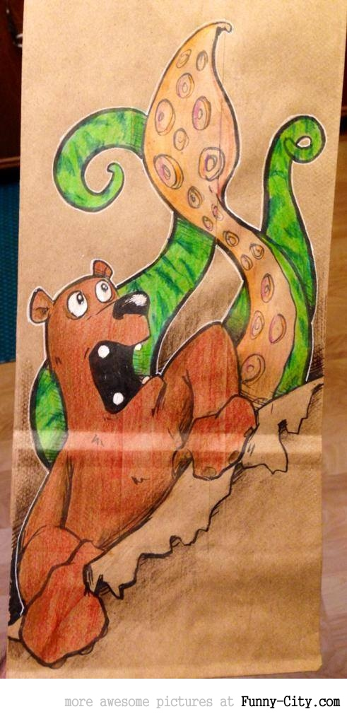 Artist, draws awesome lunch bags for son [17 pics] [7077]