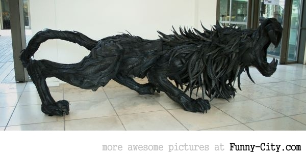 Sculptures made from recycled old tires [19 pics] [7165]