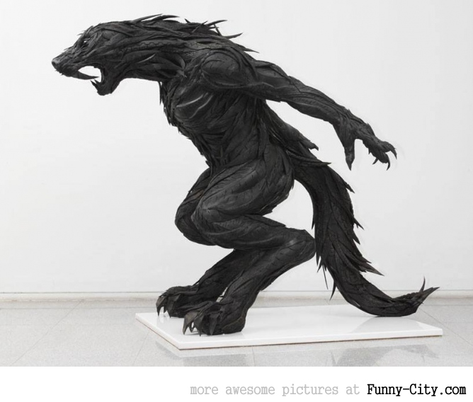 Sculptures made from recycled old tires [19 pics] [7166]