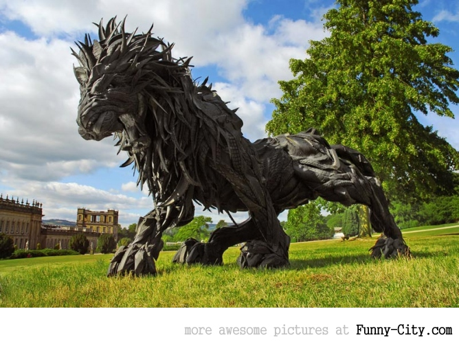 Sculptures made from recycled old tires [19 pics] [7182]