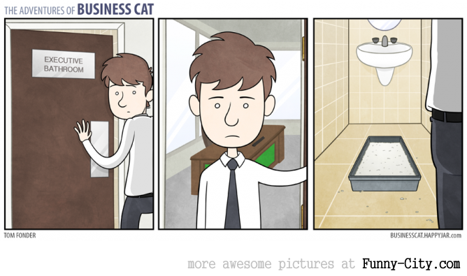 Business Cat doing Cat Business [10 strips] [7818]