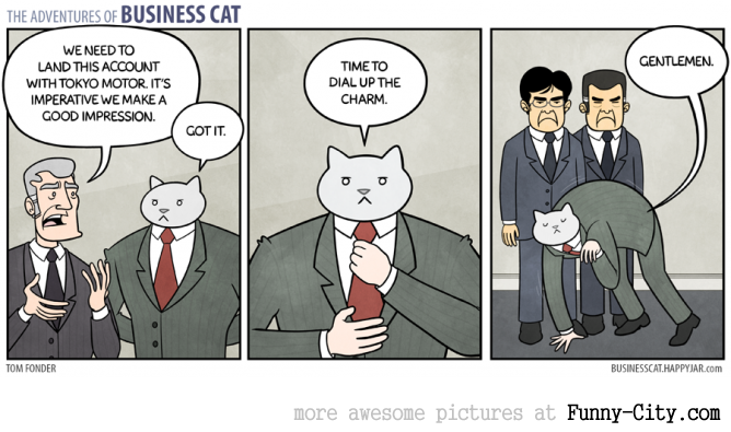 Business Cat doing Cat Business [10 strips] [7820]