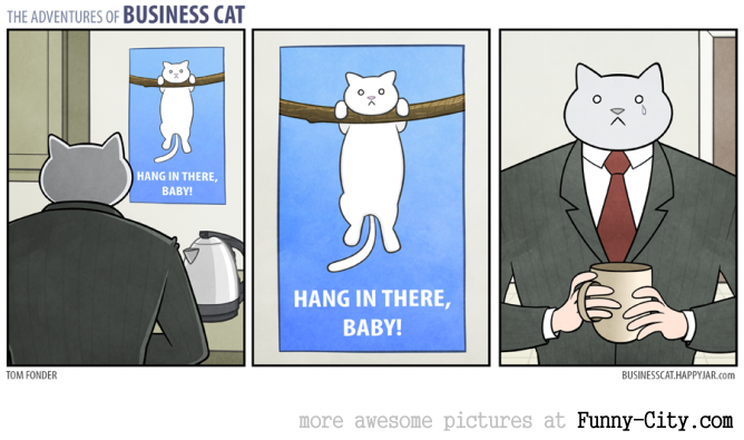 Business Cat doing Cat Business [10 strips] [7821]
