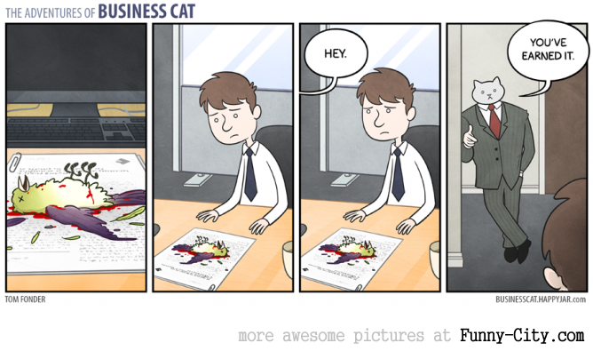 Business Cat doing Cat Business [10 strips] [7824]