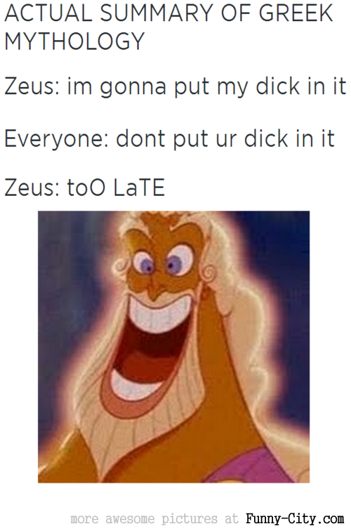 Actual Summary of Greek Mythology