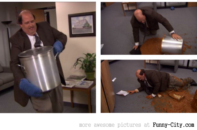 The Office-Me trying to get my life together