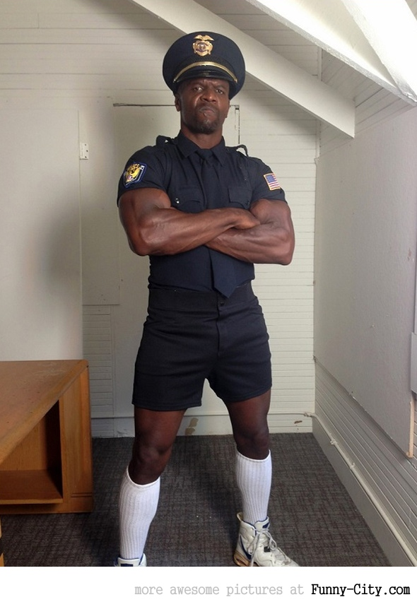 Terry Crews-Badass cop!Thinking of breaking the law?