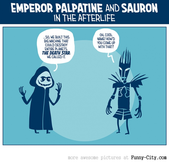 Palpatine and Sauron in the Afterlife