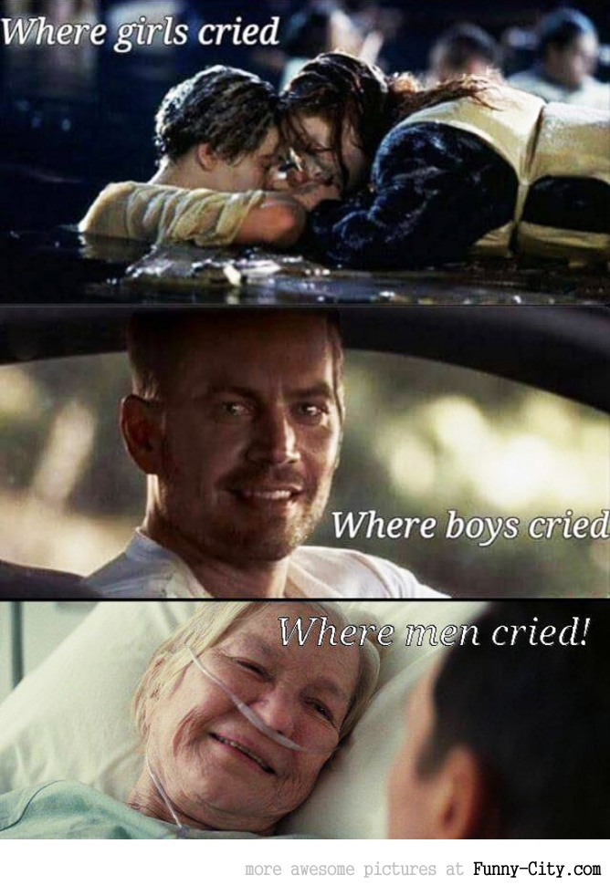 Where men cried