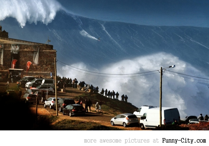 The biggest surf wave you will see