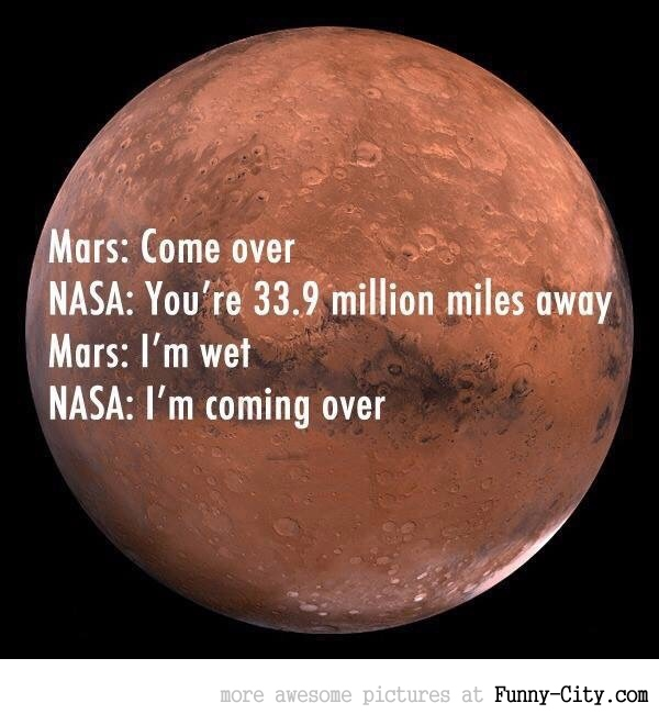 NASA is all for Mars