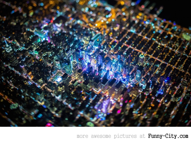 New York at night looks like motherboard