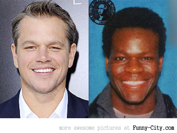 Celebrity lookalikes from a different race