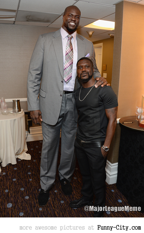 Shaquille O'Neal and Kevin Hart face swap
