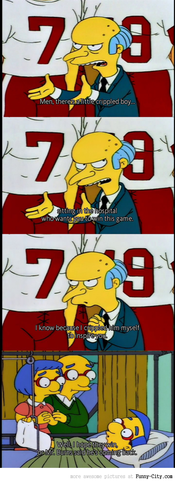 Simpsons - Mr. Burns is a good motivator