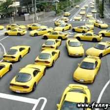 Follow the yellow car