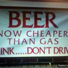 Cheaper than gas