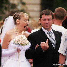No wedding pictures!