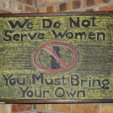 We don't serve women