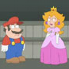 Super Mario saves the princess