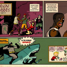 Calvin & Hobbes and the Batman