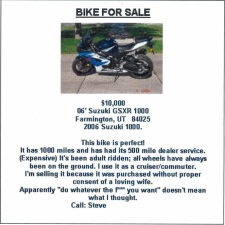 Bike for sale due to misunderstanding...!