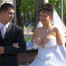 Awful wedding dress choice..