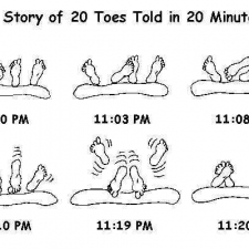 The story of 20 toes in 20 minutes...