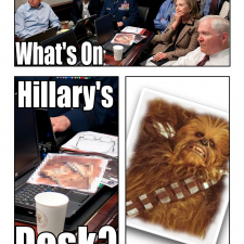 What's on Hilary's desk?