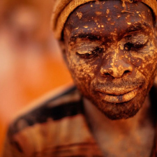 Gold miner in Mozambique