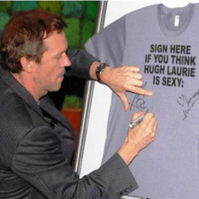 We love Hugh Laurie!