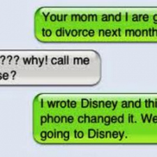 Divorce announcement via sms...